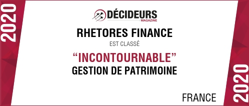 RHETORES FINANCE atteint la plus haute marche du podium du classement desConseillers en Gestion de Patrimoine de Décideurs Magazine